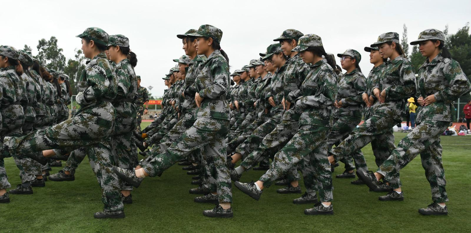 云南师范大学文理学院2019级新生军训拉开帷幕